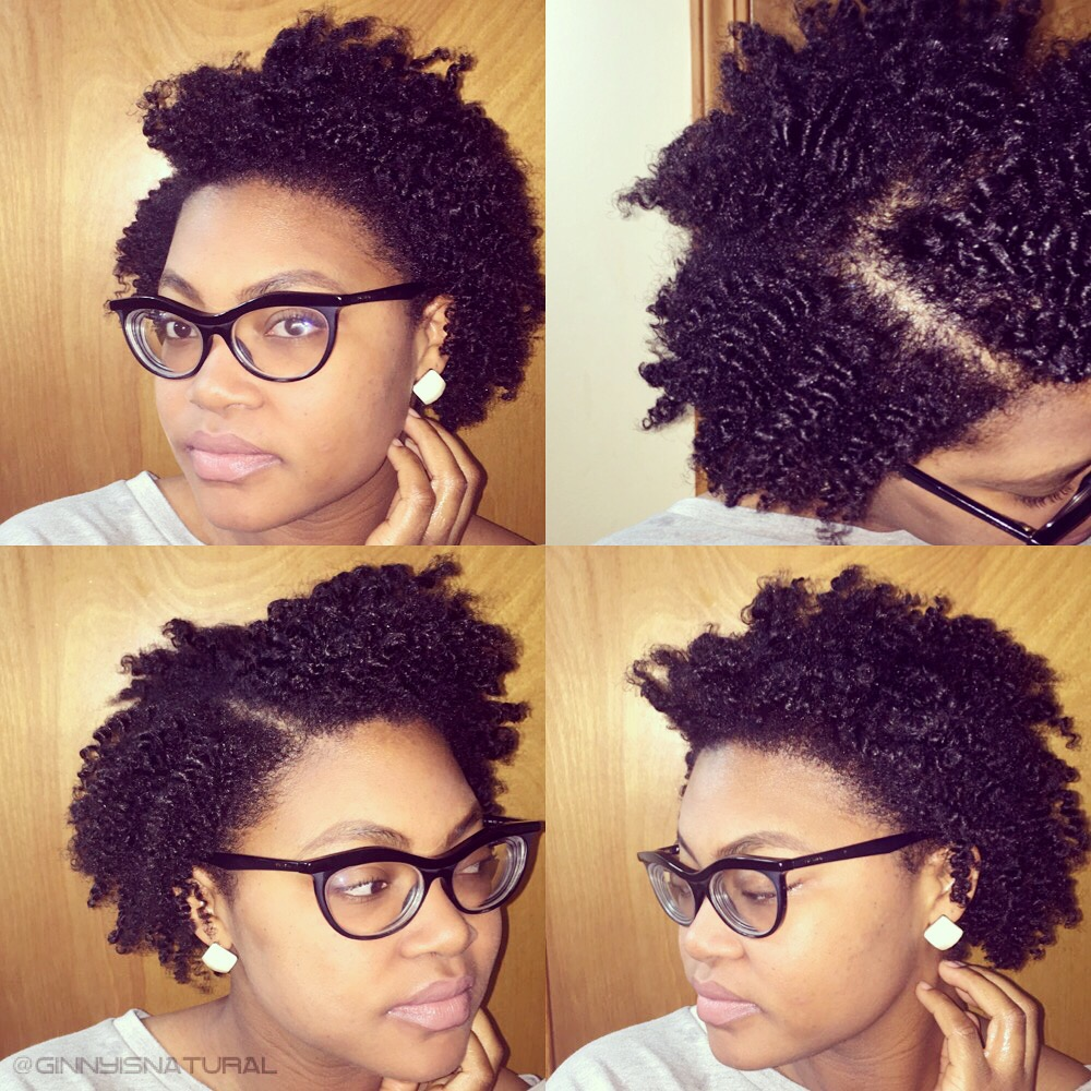 How to do a twist out on short natural hair