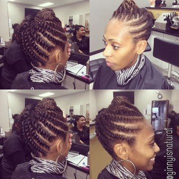 embracethenaturalyou two strand twist updo 2