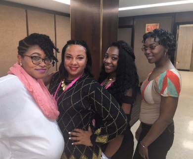 CEO Ginny Anyiah, Stylists Aerii and Asha, and Model Kierra