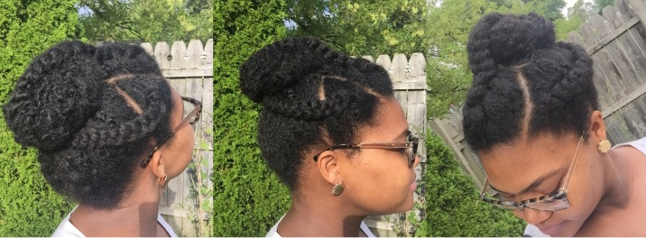 Bun and 3 Cornrow Braids