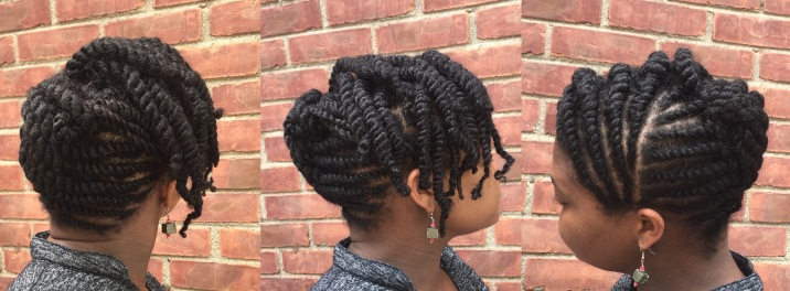 Flat Twist Natural Updo