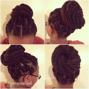 Marley Twists - 3 strands of hair in each twist - 24 twists