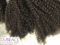 embrace bohemian afro curl - kinky 100% human hair extensions